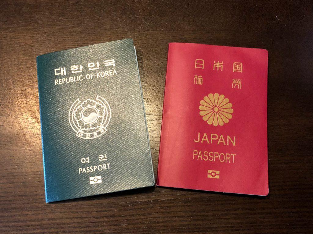 日韓パスポート
